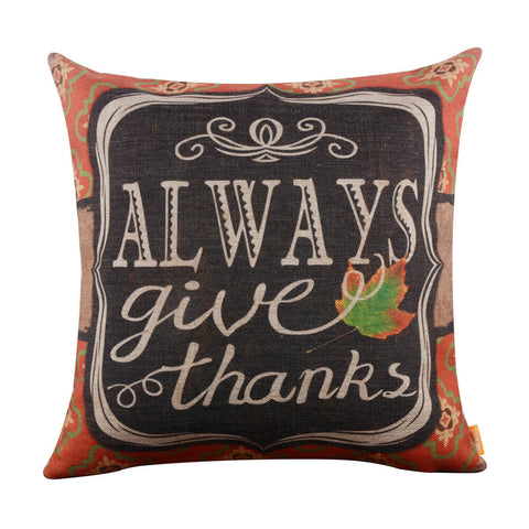 Image of Always Give Thanks Pillow Cover