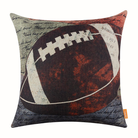 American Football Print Pillow Cover