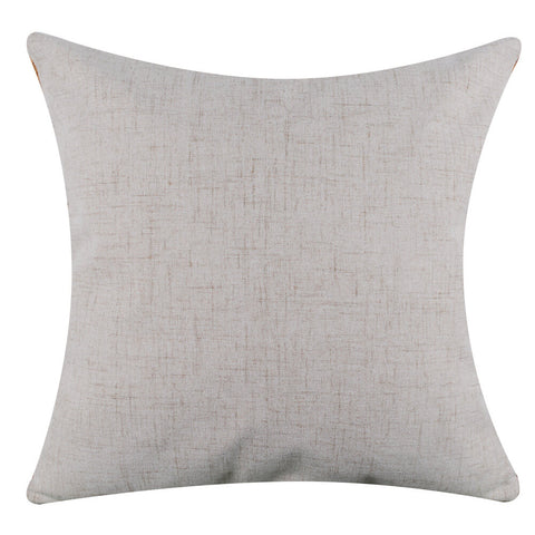Image of Merry Little Christmas Pillow Cover with Red Binding