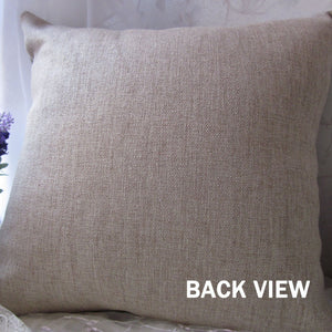 Purple Lavender Hessian Pillow cover