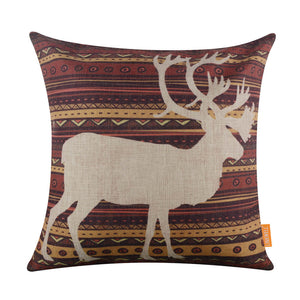 BOHO Style Whiteout Stag Pillow Cover