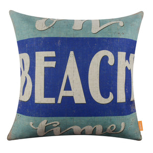 Beach Cottage Style Pillow Cover