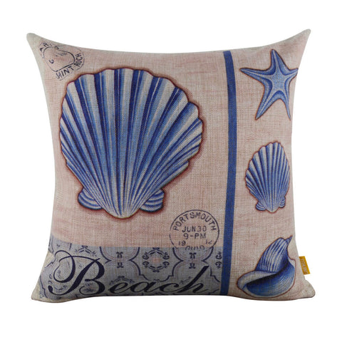 Image of Beach Shell Pillow Cover