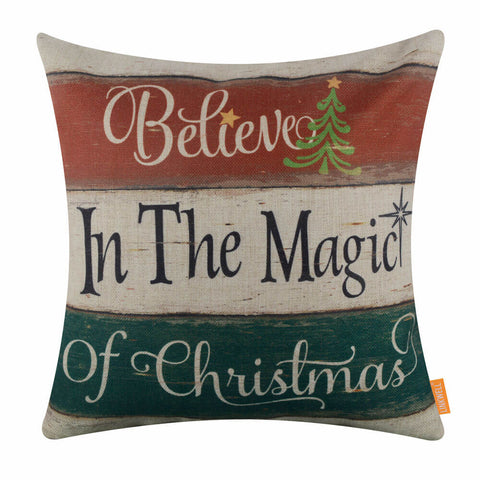 Believe in the Magic of Christmas Pillow Cover
