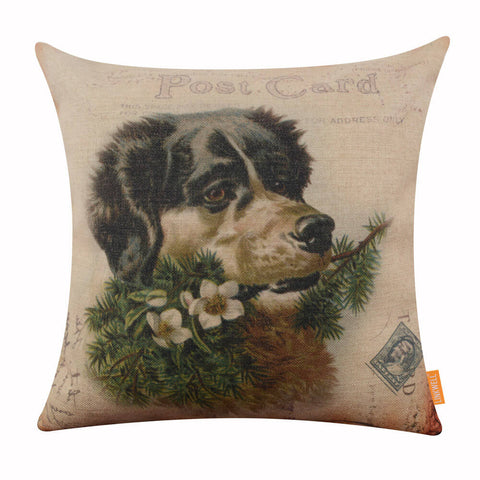 Best Christmas Pillow Cover in Dog Design
