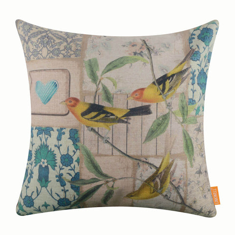 Image of Bird Heart Pillow Cover