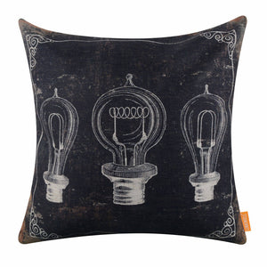 Black Bulb Patent Cushion Cover