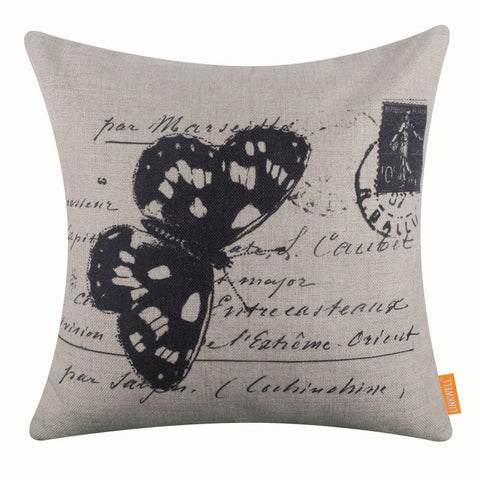 Image of Black Butterfly Pillow Cover