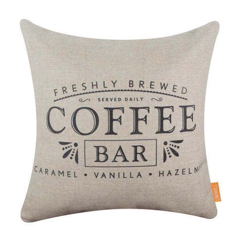 Image of Black Coffee Bar Pillow Cover