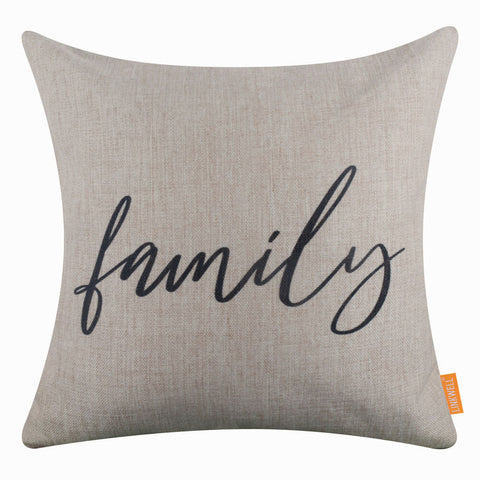 Image of Black Family Word Pillow Cover