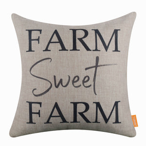 Black Farm Sweet Farm Cushion Cover