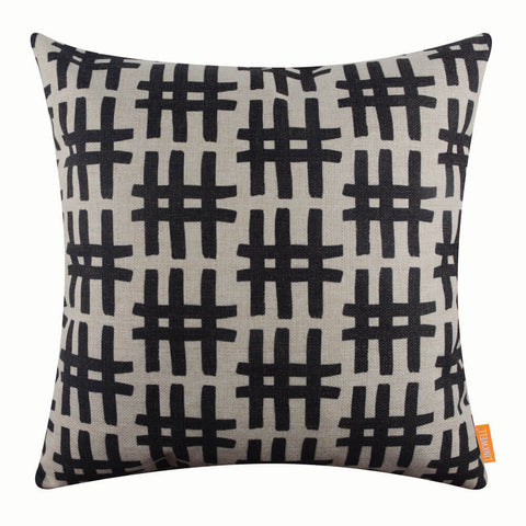 Image of Black Geometric Pillow Cover