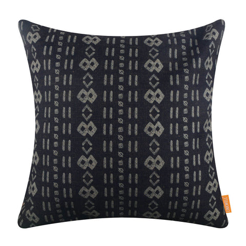 Image of Black Mudcloth Pillow Cover Printing