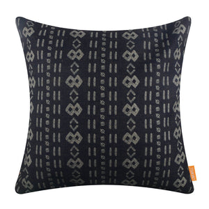 Black Mudcloth Pillow Cover Printing