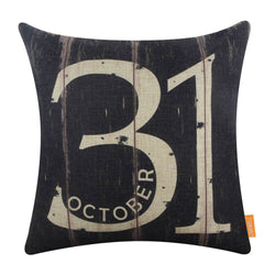 Black October 31 Halloween Pillow Cover