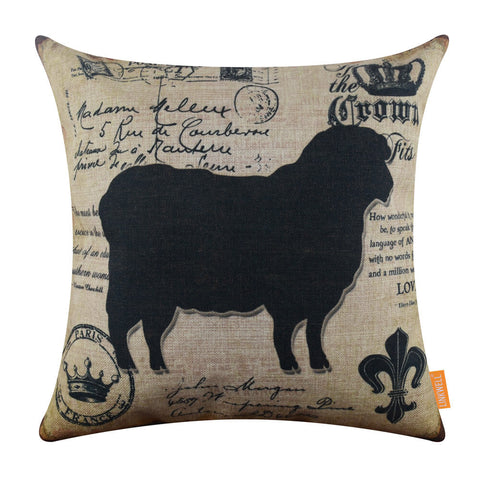 Black Sheep Pillowcase for Farm Decor