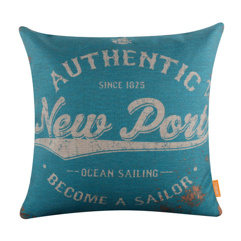 Blue Authentic Sailor Cushion Cover