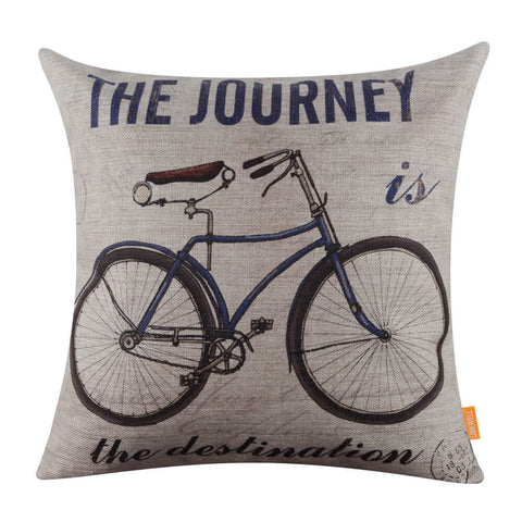 Image of Blue Color Bike Cushion Cover