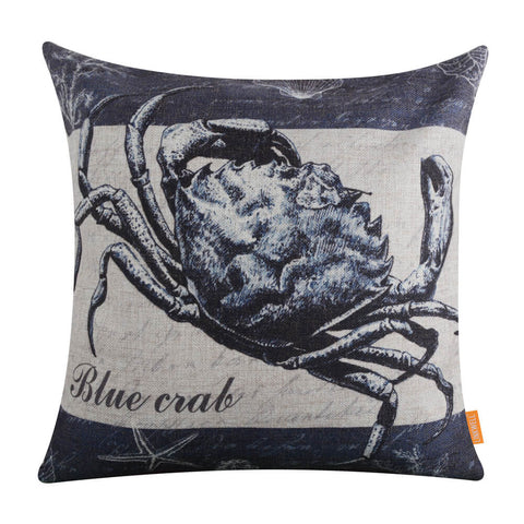 Image of Blue Crab Pillow Cover