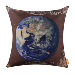 Blue Earth Throw Pillow Slipcovers