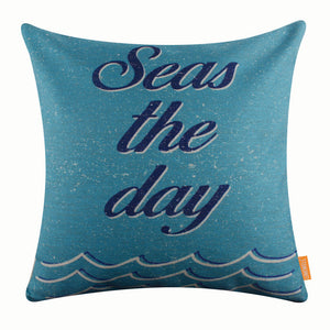 Blue Sea Pillow Cover