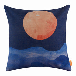 Blue Sunset Pillow Cover