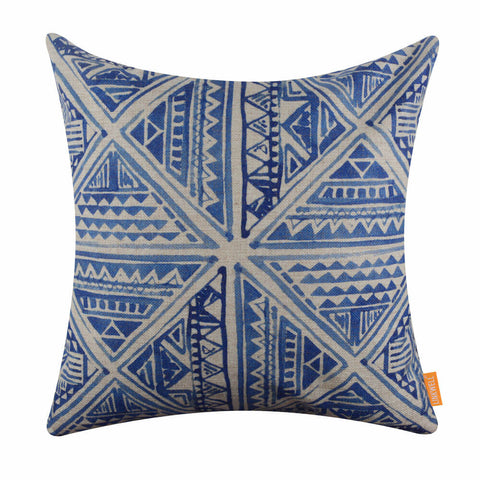 Image of Blue Tie Dye Pillow Cover