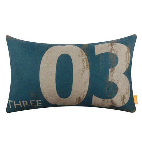 Buy Aqua Number 3 Pillow Cover
