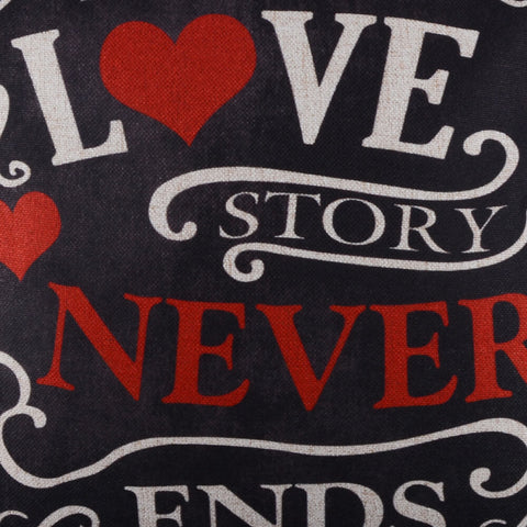 Valentine's Day Gift A True Love Story Never Ends Pillow Cover