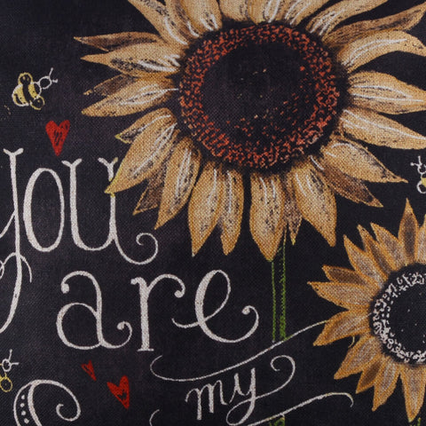 Image of You Are My Sunshine Sunflower Love Pillow Cover