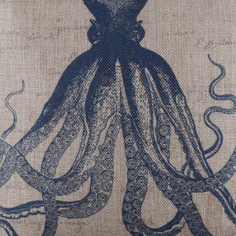 Image of Sea Blue Octopus Decorative Pillow Cover