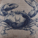 Beach Decor Crab Pillow Cover