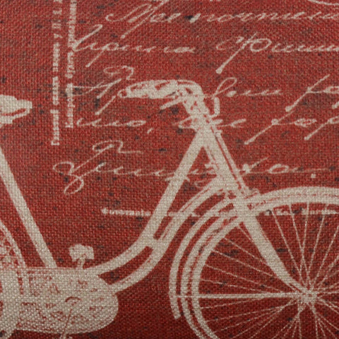 Vintage Red Waist Cushion Cover
