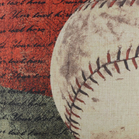 Image of Colorful Baseball Decorative Pillow Cover