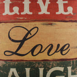 Live Love Laugh Pillow Cover