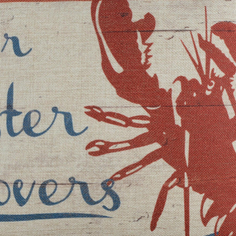 Fresh Seafood Lobster Pillow Cover