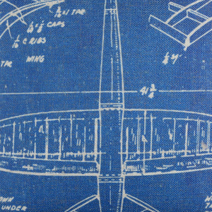 Shabby Chic Blue Airplane Patent Pillow cover