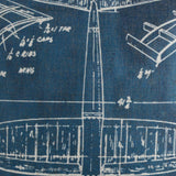 Blue Airplane Patent Pillow Cover
