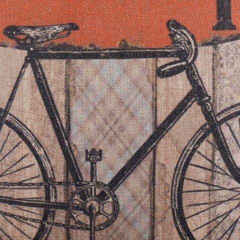 Teak Wooden Bicycle Pillow Cover