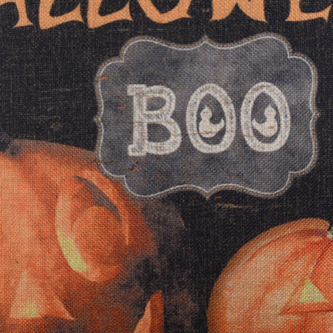 Happy Halloween Festive BOO Black Cushion Cover