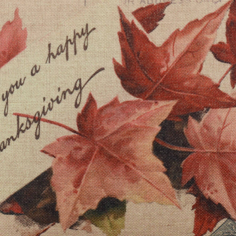 Thanksgiving Red Maple Cushion Cover