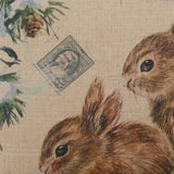 Winter Christmas Rabbit Cushion Cover