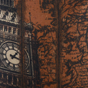 London Big Ben World Map Decorative Pillow Covers for Couch
