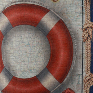 Nautical Life Ring Pillow Cover