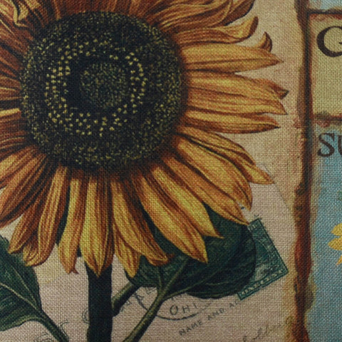 Image of Vintage Sunflower Yellow Pillow Cover on Sale