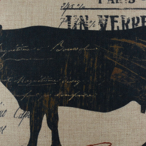 Image of French County Black Cow Cushion Cover for Sofa