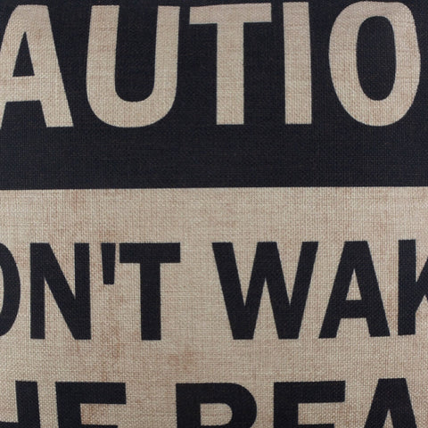 Image of Caution Man Cave Cushion Cover for Couch