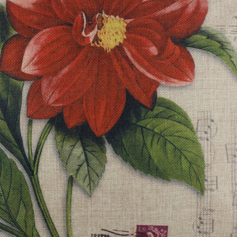 Image of Big Red Flower Pillow Cover 18x18