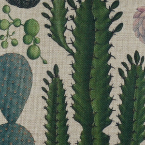 Tropical Plant Cactus Green Pillow Cover