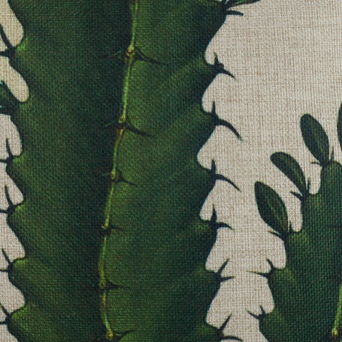 Tropical Plant Cactus Green Cushion Cover